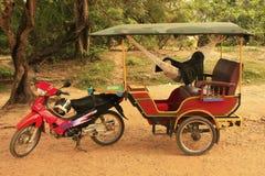 Tuk tuk in Angkor area, Siem Reap, Cambodia Royalty Free Stock Photography