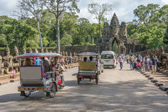 Tuk-tuk Angkor Wat, Kambodscha stockfoto