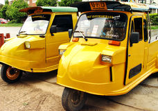 Tuk Tuk in Ayuthaya. Tuk tuk, a form of transport in Thailand stock photo