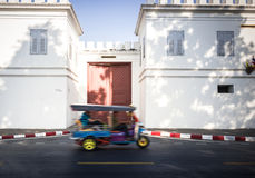 Tuk-Tuk:Bandkok Taxi. Color full Tuk-Tuk near bangkok grand palace Royalty Free Stock Photos