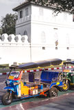 Tuk-Tuk:Bandkok Taxi_4. Color full Tuk-Tuk near bangkok grand palace Royalty Free Stock Image