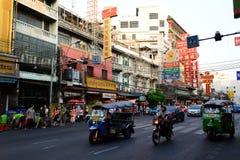 Tuk-tuk Bangkok Chinatown Thailand Lizenzfreies Stockfoto