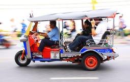 Tuk Tuk in Bangkok Thailand. Moving tuk tuk in Bangkok, motion blur Royalty Free Stock Photography
