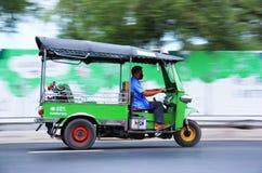 Tuk Tuk in Bangkok Thailand. Moving tuk tuk in Bangkok, motion blur Royalty Free Stock Image