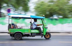 Tuk Tuk in Bangkok Thailand. Moving tuk tuk in Bangkok, motion blur Royalty Free Stock Photo
