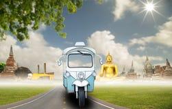 Tuk Tuk bil för turism Fotografering för Bildbyråer