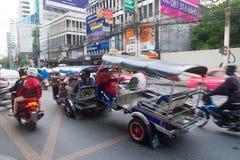 Tuk tuk carry other tuk tuk on the road. A Tuk tuk carrying other Tuk tuk on the road Stock Photo