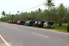 Tuk-tuk del estacionamiento Fotografía de archivo