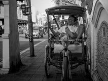Tuk Tuk Driver. Chiang Mai, Thailand - February 24: Unidentified Tuk Tuk driver relaxes on February 24, 2015 in Chiang Mai, Thailand Stock Photography
