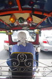 Bangkok traffic from tuk-tuk Royalty Free Stock Photography