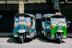 Tuk Tuk, fahren 3 Räder, Thailand mit einem Taxi stockfoto