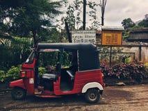 Tuk-tuk i Hatton, Sri Lanka Arkivbild