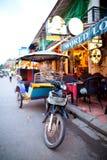Tuk Tuk i Siem Reap, Cambodja Arkivbild