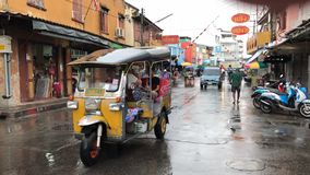 Transportation. TUK TUK at maeklong samutsongkham, Thailand royalty free stock photo