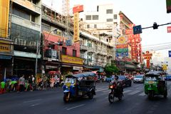 Tuk tuk bangkok chinatown thailand Royalty Free Stock Photo