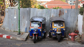 Tuk-tuk moto taxi in Bangkok Royalty Free Stock Photos