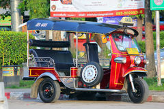 Tuk tuk, Motor tricycle. Convenience and fast transport in chiangmai, thailand Stock Photos