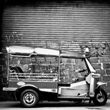 Tuk tuk. The motor-tricycle or tuk tuk taxi in bangkok thailand royalty free stock images
