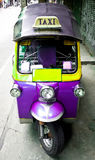 Tuk tuk. The motor-tricycle or tuk tuk taxi in bangkok thailand stock image
