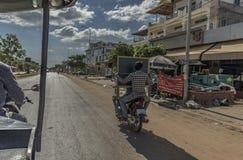Tuk Tuk and motorbike in Siem Reap Stock Images