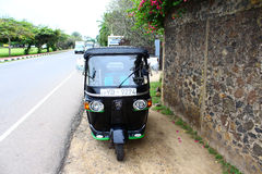 Tuk-tuk is near the hotel, Sri Lanka Stock Image