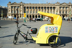 Tuk Tuk in Paris Stock Photo