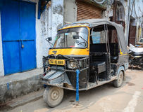 A tuk tuk parking on street in Amritsar, India Royalty Free Stock Photography