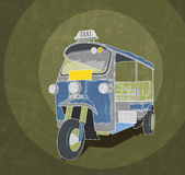 Tuk-tuk retro illustration Stock Photo