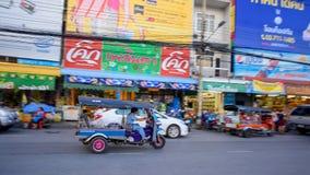 Tuk Tuk riding in Korat city Stock Photography
