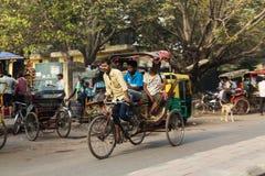 Tuk Tuk Ruckshaws à Delhi Images stock