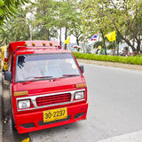 Tuk-Tuk, a small taxi in Patong. Stock Image