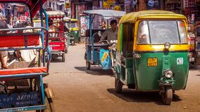 Tuk Tuk on streets of Delhi, India Royalty Free Stock Photo