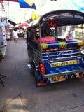 Tuk-tuk sulla strada Immagini Stock Libere da Diritti