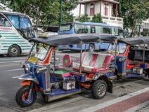 Tuk tuk taxi in Bangkok, Thailand stock photo