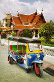 Tuk Tuk taxi in front of a temple Royalty Free Stock Photography