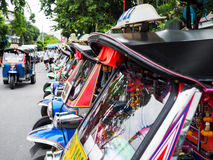 Tuk Tuk taxi general. Pa is the stuff that is unique to Thailand Stock Photos