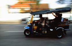 Tuk-Tuk taxi speed trip royalty free stock photo