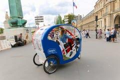 Tuk tuk taxi transports  in Paris Stock Photos