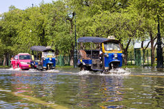 Tuk-tuk taxi in water Royalty Free Stock Image