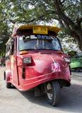 Tuk tuk taxis in Ayuthaya Royalty Free Stock Photos