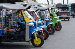 Tuk tuk taxis in bangkok Royalty Free Stock Images