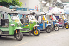 Tuk Tuk taxis in Bangkok Stock Image