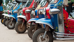 Tuk-tuk taxis in Thailand Royalty Free Stock Photography