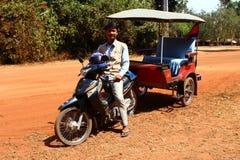Tuk tuk taxy in Cambodia Royalty Free Stock Photos