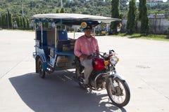 Tuk tuk taxy in Kambodscha Stockfotos