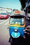 tuk tuk taxy on the road in Bangkok Stock Images