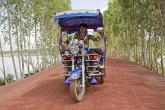 Tuk Tuk in Thailand with driver Stock Photography