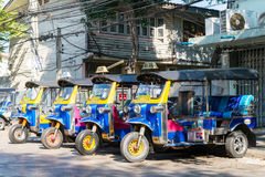 The tuk tuk thailand is local taxi thai is Favorite activities  and Stock Photography