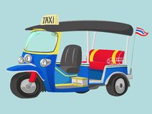 TUK-TUK Thailand Taxi vector illustration