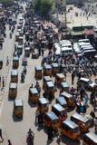Tuk-Tuk traffic in India Royalty Free Stock Photos
